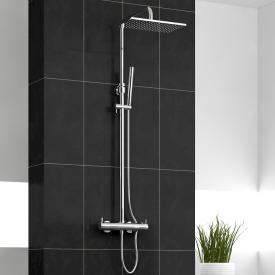 treos Series 195 thermostatic shower system with overhead shower, wall-mounted