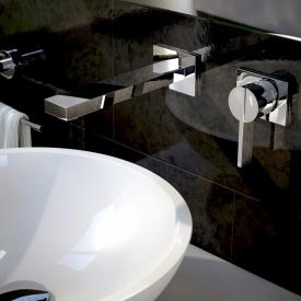 treos series 195 wall-mounted two hole basin mixer projection: 170 mm