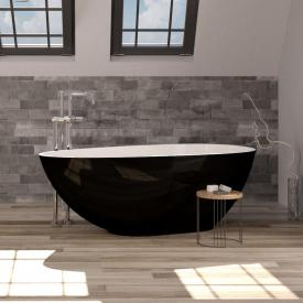 treos Series 700 freestanding mineral cast bath black