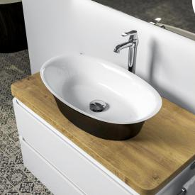 treos Series 730 countertop washbasin black/white