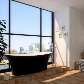 treos series 730 freestanding bath black/white