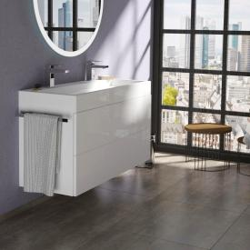 treos series 910 washbasin with vanity unit with 2 pull-out compartments with 2 tap holes