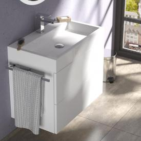 treos series 910 washbasin with vanity unit with 2 pull-out compartments with tap hole