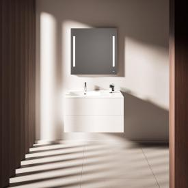 treos Series 915 washbasin with vanity unit with 2 pull-out compartments basin left