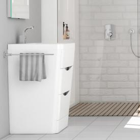 treos Series 920 washbasin with vanity unit with 2 pull-out compartments front white / corpus white, with 1 tap hole