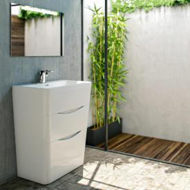 treos series 920 washbasin with vanity unit with 2 pull-out compartments with tap hole