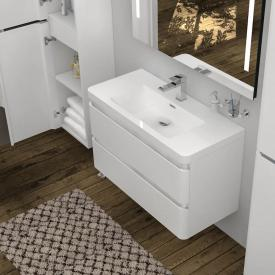 treos Series 920 vanity unit with washbasin and 2 pull-out compartments with 1 tap hole