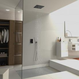 treos Series 930 overhead shower panel for ceiling installation matt black