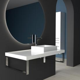 treos series 950 console for 1 countertop/drop-in washbasin white