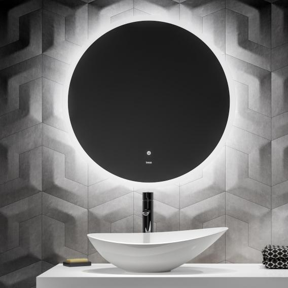 treos Series 605 wall-mounted mirror with LED lighting
