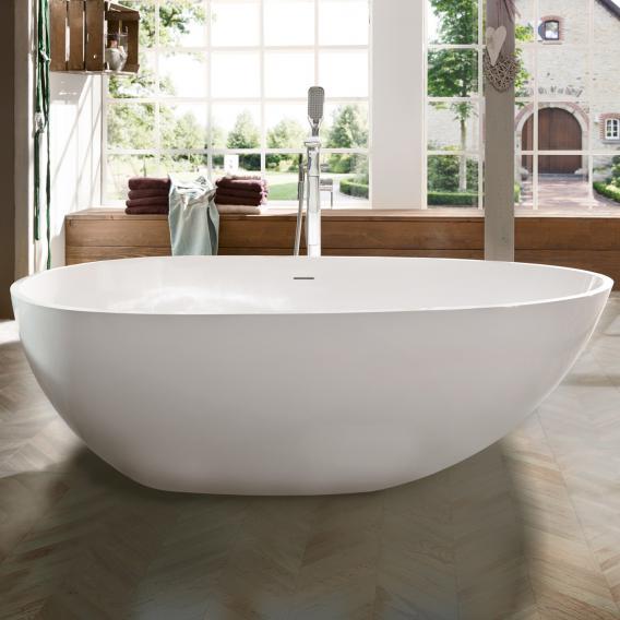 treos Series 700 freestanding mineral cast bath white