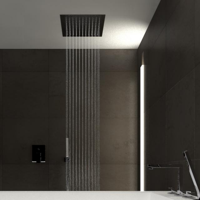 treos rain panel, for celling mounting brushed stainless steel