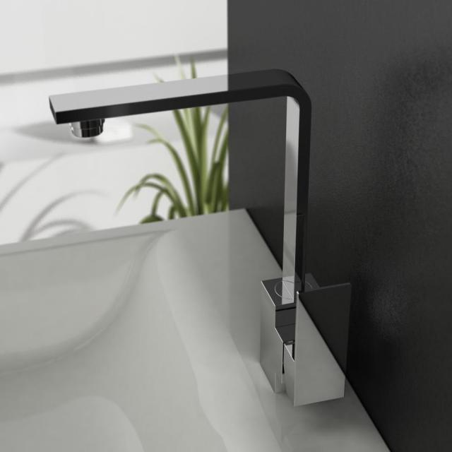 treos Series 176 single lever basin mixer, with pop-up waste set