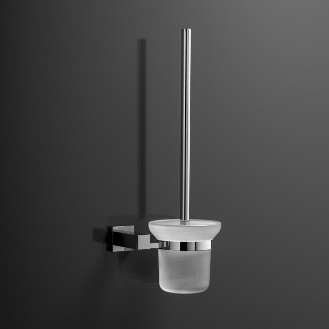 treos Series 505 wall-mounted toilet brush set white