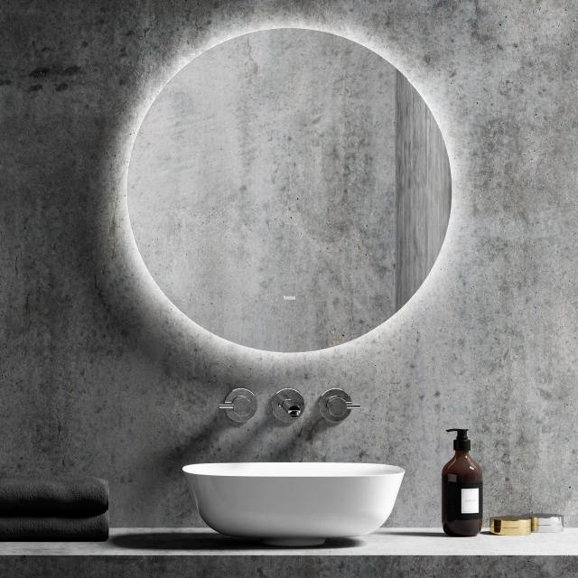treos Series 606 wall-mounted mirror with LED lighting