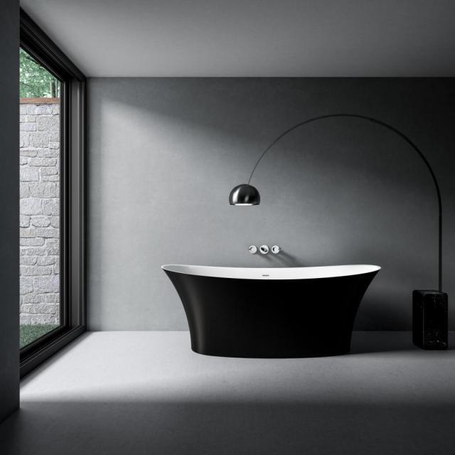 treos Series 730 freestanding oval bath black/white