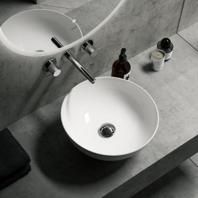 Treos Series 800 countertop washbasin without overflow