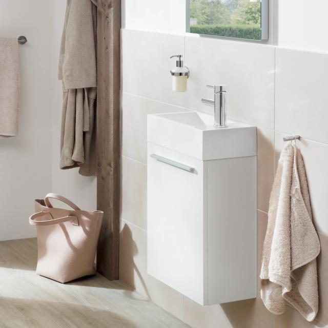 treos Series 900 hand washbasin with vanity unit with 1 door front white / corpus white