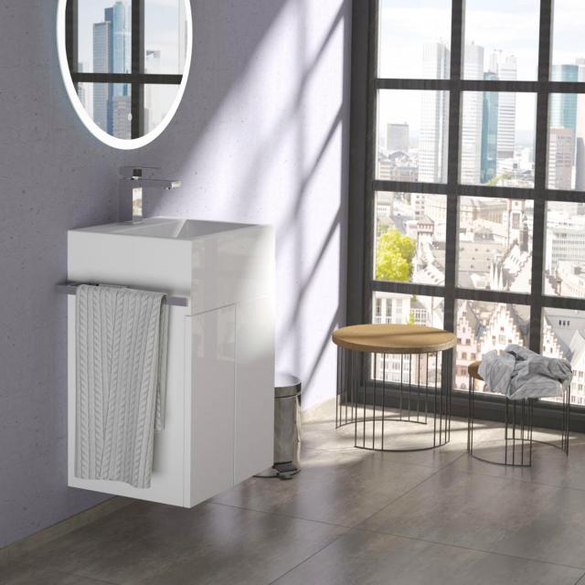 treos series 910 hand washbasin with vanity unit with 2 doors