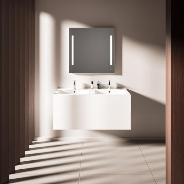 treos Series 915 double washbasin with vanity unit with 4 pull-out compartments