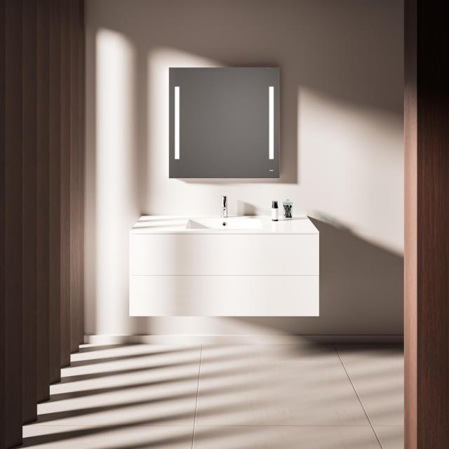 treos Series 915 washbasin with vanity unit with 2 pull-out compartments basin in the middle
