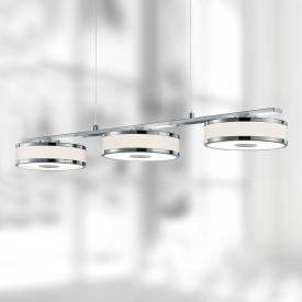 Trio Agento LED pendant light with dimmer, 3 heads