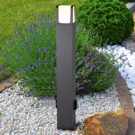Trio Ebro LED bollard light with sockets
