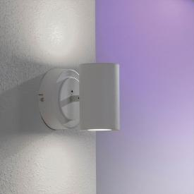 Trio Sancho RGBW LED spotlight/wall light with dimmer
