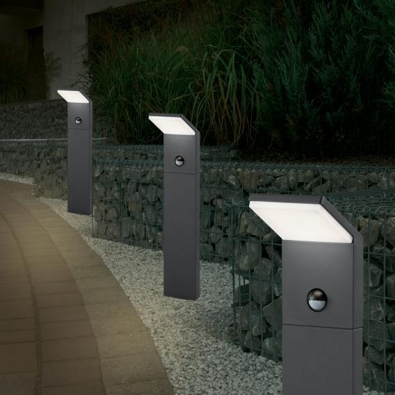 TRIO Pearl LED bollard light with motion sensor