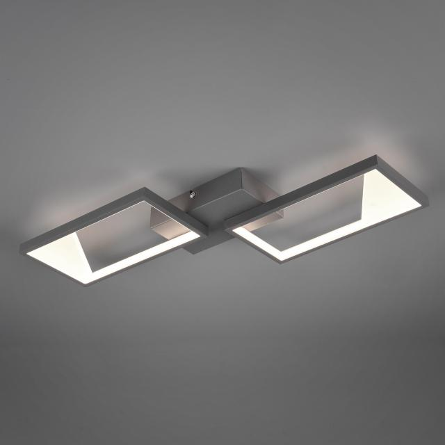 TRIO Cafu LED ceiling light with dimmer, 2 heads