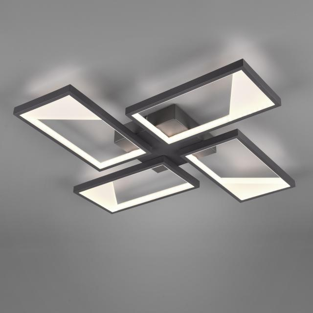 TRIO Cafu LED ceiling light with dimmer, 4 heads