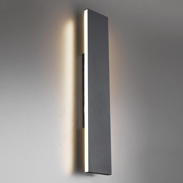 TRIO Concha LED wall light with dimmer, large