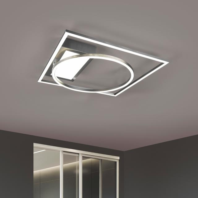 TRIO Downey LED ceiling light with CCT and dimmer