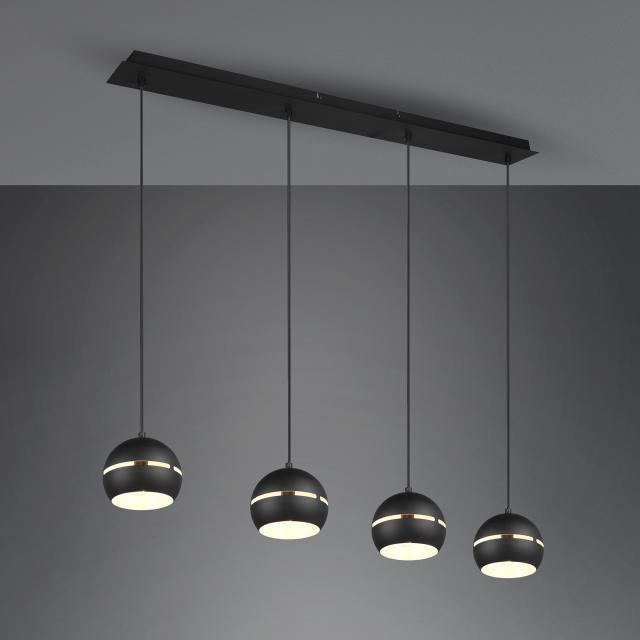 TRIO Fletcher pendant light, 4 heads