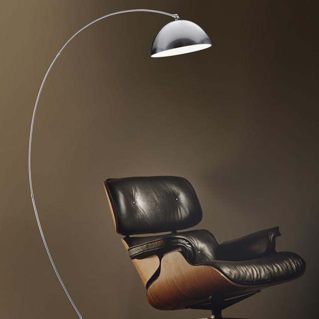 TRIO Florestan LED floor lamp with dimmer