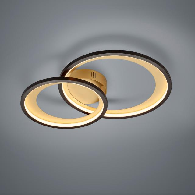 TRIO Granada LED ceiling light with dimmer
