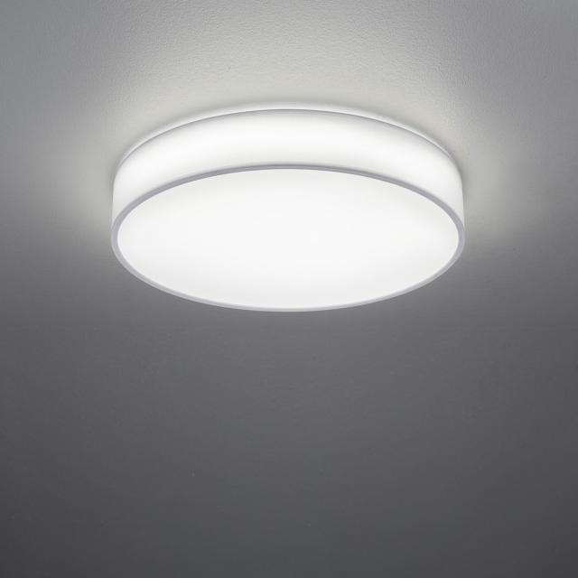 TRIO Lugano LED ceiling light with remote control and dimmer