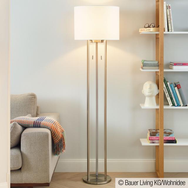 TRIO Tandori LED floor lamp with pull switch