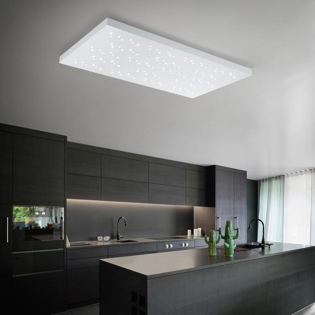 TRIO Titus LED ceiling light with dimmer and remote control
