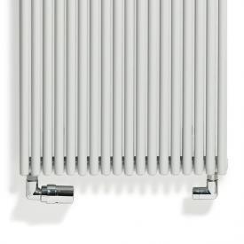 Vasco design valve set for standard connection white, left wall connection