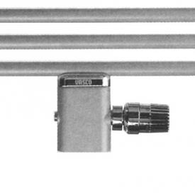 Vasco single valve set mm, also for single tube system w. white cap (straight bottom) white
