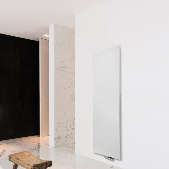 Vasco Niva design radiator for hot water operation white fine texture, single layer, 985 Watt