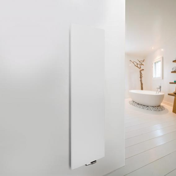 Vasco Niva Soft designer radiator for hot water operation white fine texture, single layer, 1322 Watt