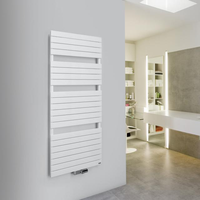 Vasco Aster towel radiator for hot water or mixed operation white, 812 Watt, single tubes