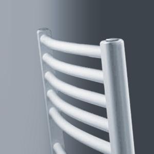Vasco Bano bathroom radiator, with standard connection, curved width 75 cm, 1184 Watt
