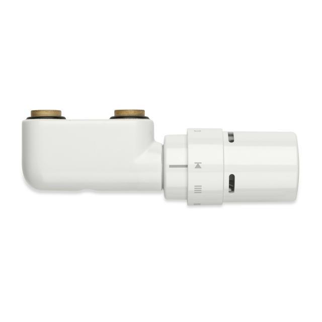 Vasco design valve set for central connection, angled white