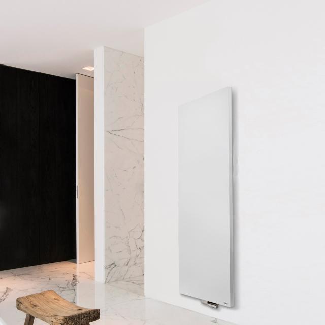 Vasco Niva design radiator for hot water operation white fine texture, double layer, 1437 Watt