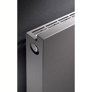 Vasco Niva Horizontal radiator, single row white fine texture
