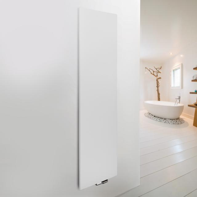 Vasco Niva Soft designer radiator for hot water operation white, single layer, 1257 Watt