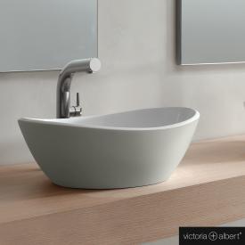 Victoria + Albert Amalfi 55 countertop washbasin light grey/white